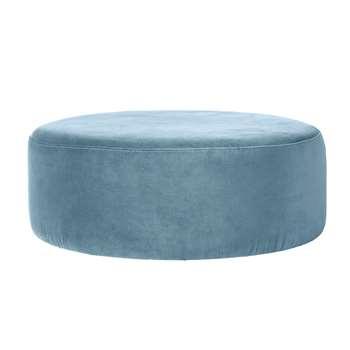 Broste Copenhagen Wind Pouffe - Pastel Blue (H30 x W82 x D82cm)
