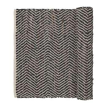 Broste Copenhagen - Zigzag Rug - Chocolate (70 x 140cm)