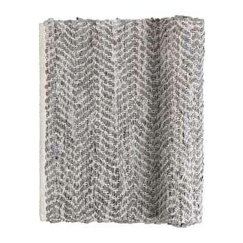 Broste Copenhagen - Zigzag Rug - 70x140cm - Light Grey