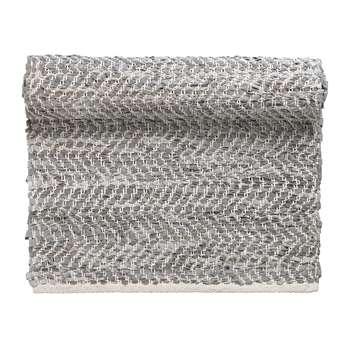 Broste Copenhagen - Zigzag Runner Rug - Light Grey (H70 x W140cm)