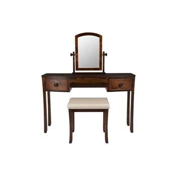 Broughton Dark Dressing Table Set (57.5 x 46cm)
