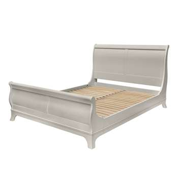Broughton Pale French Grey Bed Frame Super King (110 x 192 x 218cm)