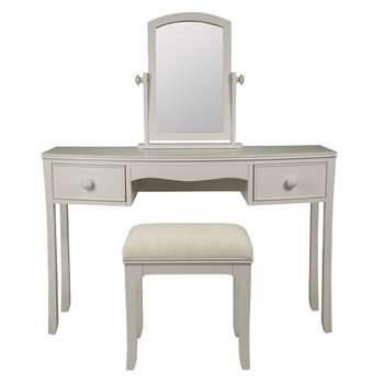 Broughton Pale French Grey Dressing Table Set (58 x 46cm)