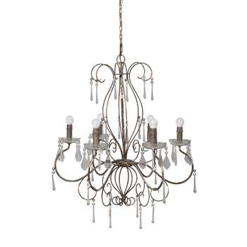 GABRIELLE Brown Metal Drop Bead Chandelier (96 x 79cm)