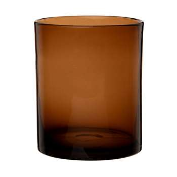 Brown Tinted Glass Cylindrical Vase (H16 x W13 x D13cm)
