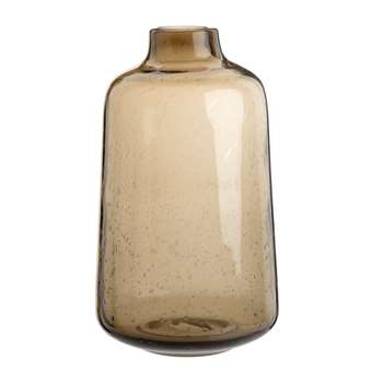 Brown Tinted Glass Vase (H25 x W14.5 x D14.5cm)