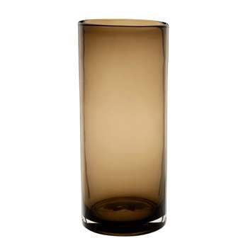 Brown Tinted Glass Vase (H28 x W12 x D12cm)