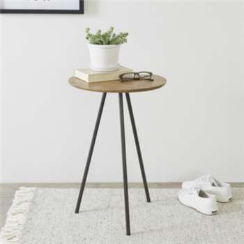 Brunel Tripod Side Table - Smoke (60 x 40cm)