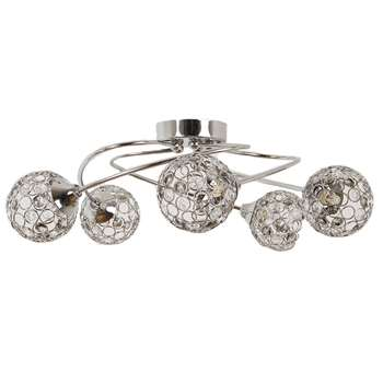 Bryn 5 Light Ceiling Light Polished Chrome (H16 x W50 x D50cm)