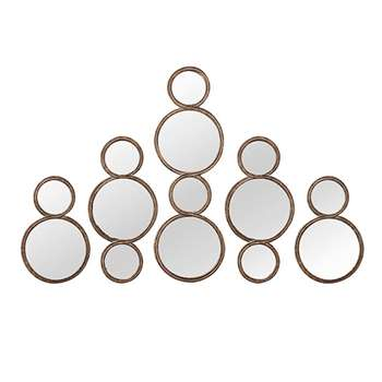 Bubble Mirrors, Set of Five - Antique Gold (77 x 26cm)