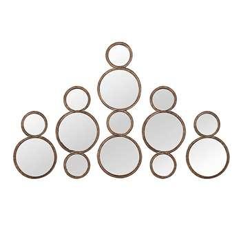 Bubble Mirrors, Set of Five - Antique Gold (77 x 26cm)