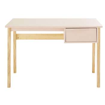 Bucolique - Light Pink Vintage 1-Drawer Desk (H75 x W110 x D55cm)