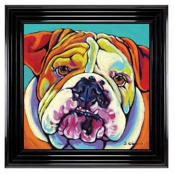 Bulldog Liquid Art (H40 x W40cm)