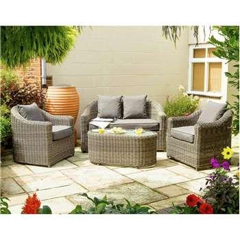 Bunbury Rattan Garden Sofa Set (45 x 100cm)