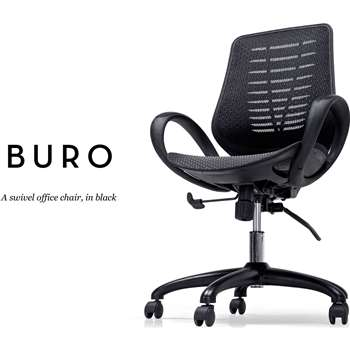 Buro Swivel Office Chair, Black (97-104 x 61cm)