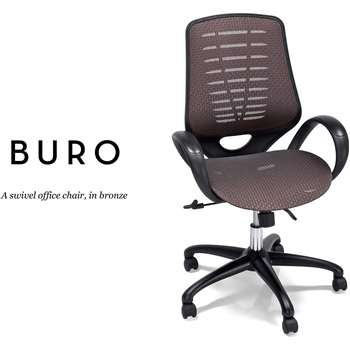 Buro Swivel Office Chair, Bronze (97-104 x 61cm)
