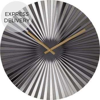 Bushwick Large Statement Fan Wall Clock, Gunmetal (Diameter 50cm)
