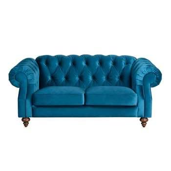 Buster 2 seat sofa Genova Peacock (84 x 193cm)