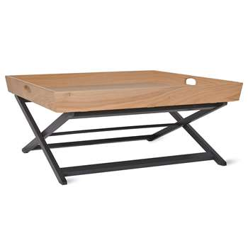 Butlers Coffee Table, Oak & Beech (H45 x W90 x D90cm)
