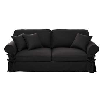 BUTTERFLY 3/4 seater cotton sofa in slate grey (86 x 213cm)