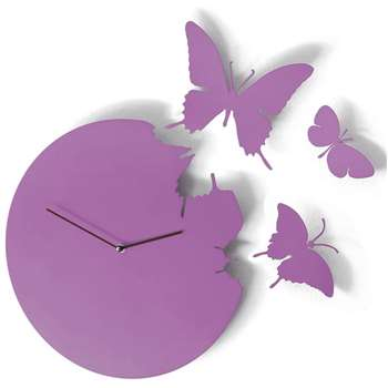 Butterfly Clock Violet 40 x 40cm