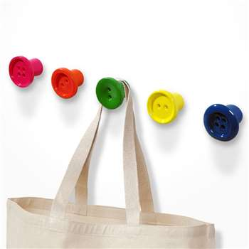 Button-Up Mini Coat Hooks - Multi Colour