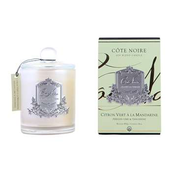 Côte Noire - Gourmandise Silver Scented Candle - Persian Lime & Tangerine - 450g (H10 x W10 x D10cm)
