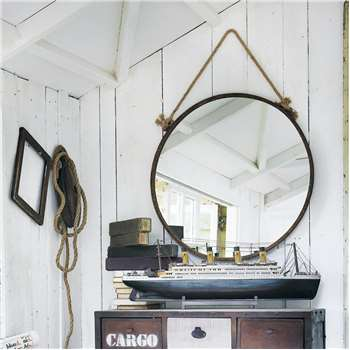 CABINE Rust Effect Metal Mirror (Diameter 70cm)