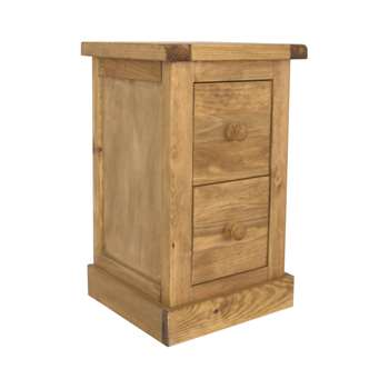 Cabinet Bits 2 Drawer Bedside with Legs 56 x 35cm