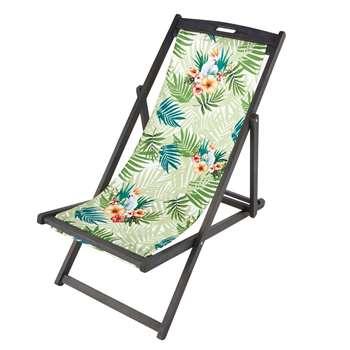 CACATOES Tropical Print Deckchair Canvas (124 x 44cm)