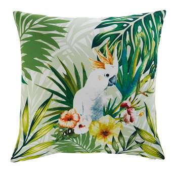 CACATOES tropical print fabric outdoor cushion (45 x 45cm)