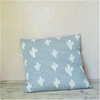 Cactus Floor Cushion In Grey (65 x 65cm)