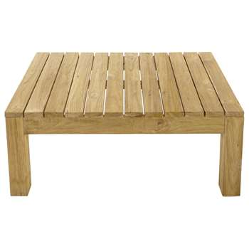 CADAQUES Teak garden coffee table (40 x 102cm)