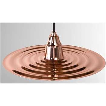 Café Pendant Shade, Copper (6 x 33cm)