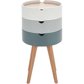 Cairn Bedside Table, Grey (75 x 41cm)