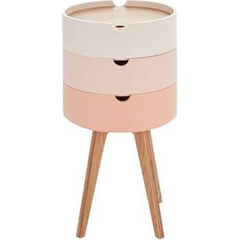 Cairn Bedside Table, Pink (75 x 41cm)