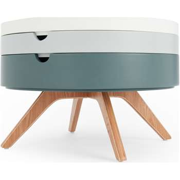 Cairn Coffee Table, Tonal Grey (H40 x W60 x D60cm)