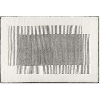 Caixa Wool Rug, Off White & Black (H160 x W230 x D1cm)