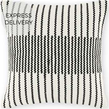 Caixa Woven Cushion, Black & Off White (H45 x W45cm)