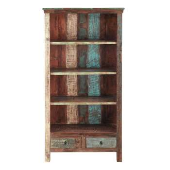 CALANQUE Recycled wood bookcase (180 x 96cm)