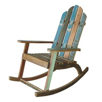 CALANQUE Recycled wood rocking chair (115 x 75cm)
