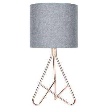 Caleb Copper Tripod Table Lamp (H56 x W26 x D26cm)