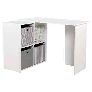 Calgary Corner Desk - White (73 x 99.6cm)