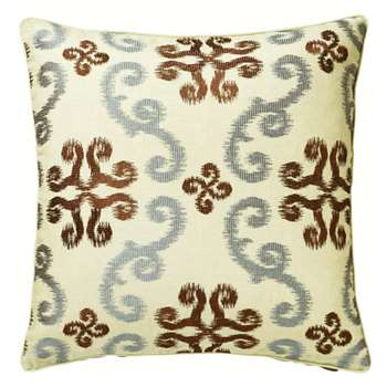 Calla Cushion Cover, Large - Blue/Brown (51 x 51cm)