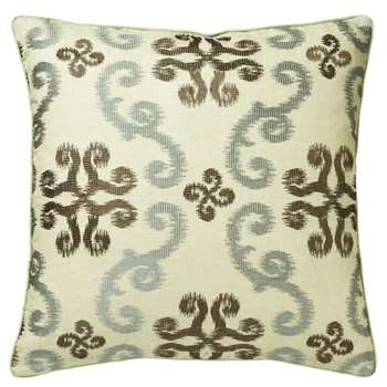 Calla Cushion Cover, Large - Turquoise/Green (51 x 51cm)