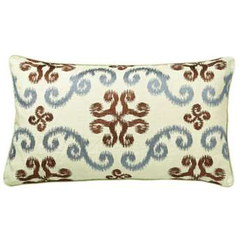Calla Cushion Cover, Small - Blue/Brown (35 x 60cm)