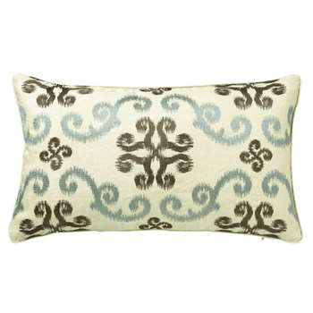 Calla Cushion Cover, Small - Turquoise/Green (35 x 60cm)