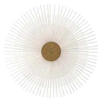 CALLISTA golden metal clock (95 x 95cm)