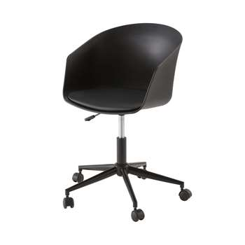 CALVIN Black Vintage Office Chair (H85 x W65 x D60cm)