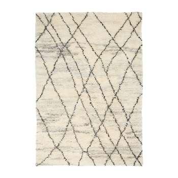 Calvin Klein - San Antonio Rug - Ivory/Charcoal (H244 x W168cm)
